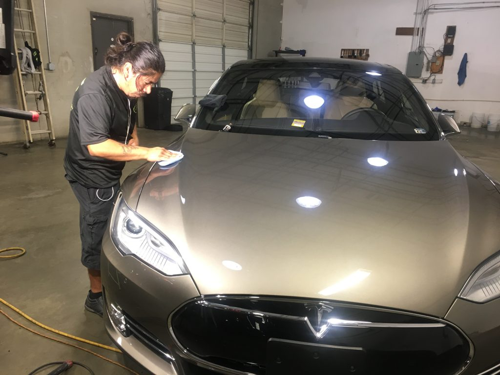 Ceramic coating helps protect your car for years and requires no waxing!